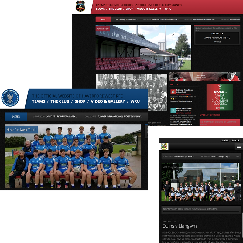 WRU Club Websites